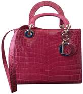 Christian Dior Lady crocodile handbag