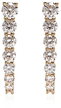 Melissa Kaye 18kt yellow gold Aria hook diamond earrings