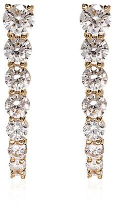 Melissa Kaye 18kt yellow gold Aria hook diamond earrings