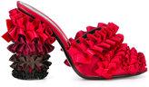 Marco De Vincenzo ruffled mules - women - Leather/Silk Satin - 36