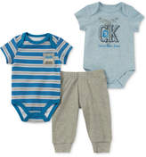 Calvin Klein 3-Pc. Bodysuits & Pants Set, Baby Boys