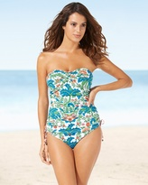 Soma Intimates Shirred Bandeau Tankini Swim Top Multi