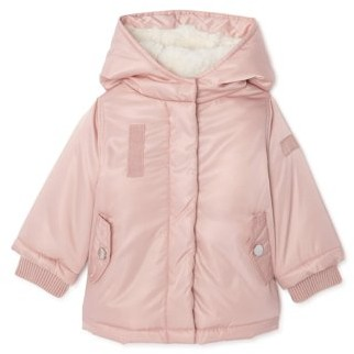 Bhip Clothing BHIP Baby and Toddler Girl Faux Fur Lined Fleece Winter Jacket Coat