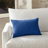 Crate & Barrel Sunbrella ® Mediterranean Blue Outdoor Lumbar Pillow