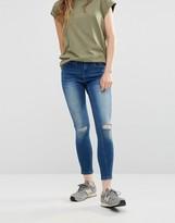 WÅVEN Freya Ripped Knee Ankle Grazer Skinny Jeans