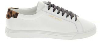 Saint Laurent Leopard Print Detail Sneakers