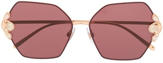 Dolce & Gabbana Eyewear Embellished Hexagonal Sunglasses