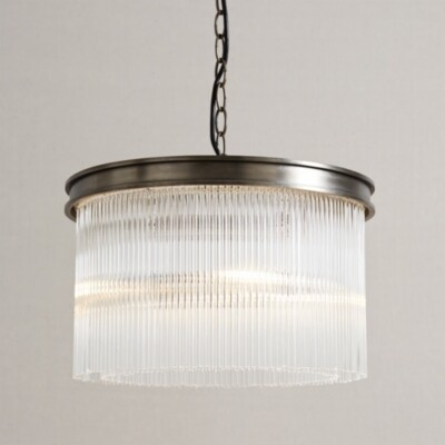 The White Company Helston Small Chandelier Ceiling Light, Antique Brass, One Size