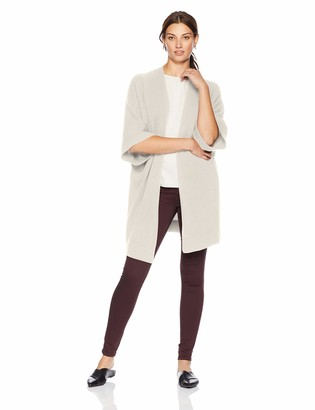 Lark & Ro Amazon Brand Women's Oversized Drapey Open Cardigan Cashmere Sweater with Pocket