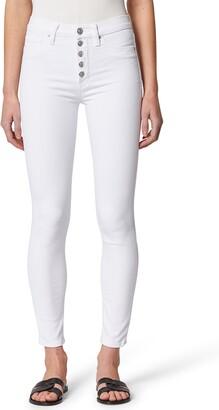 Hudson Barbara Button Fly High Waist Super Skinny Jeans