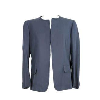 Brioni Blue Silk Jacket for Women Vintage