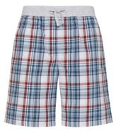 Hugo Boss Short Pant CW Cotton Plaid Lounge Shorts M Grey