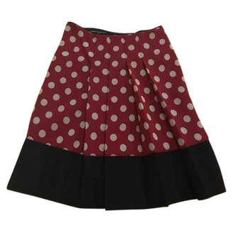 Musso Roberto Red Wool Skirt for Women