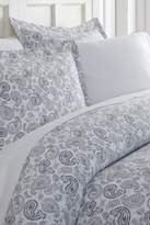 IENJOY HOME Home Spun Premium Ultra Soft 3-Piece Coarse Paisley Print Duvet Cover King Set - Navy