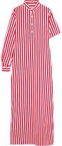 Balenciaga Striped Cotton-poplin Maxi Dress - FR38