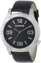 Unlisted Watches Men's UL1257 City Streets Round Silver Case Dial Strap Watch