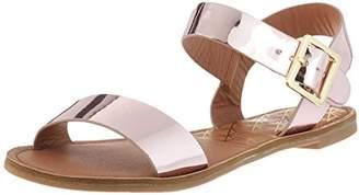 Qupid Women's Two-Piece Sandal Flat