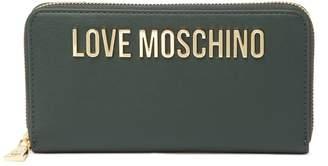 Love Moschino Logo Embossed Zip-Around Wallet