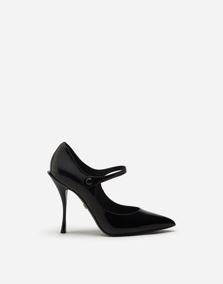 Dolce & Gabbana Mary Jane Shoes In Polished Calfskin