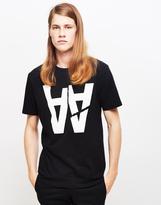 Wood Wood AA Rip T-Shirt Black