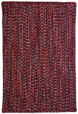 """Gracie Oaks Team Spirit Vertical Stripe Rectangle Braided Rugs - Crimson Navy Rug Size: Runner 2'3"""" x 9'"""