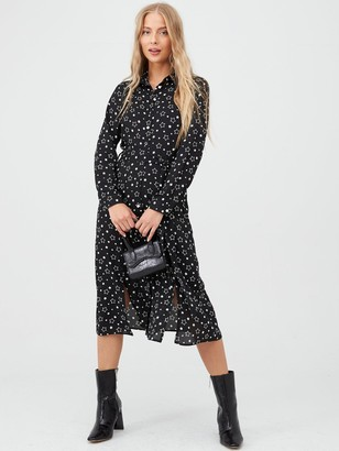 Very Midi Shirt Dress - Star Print