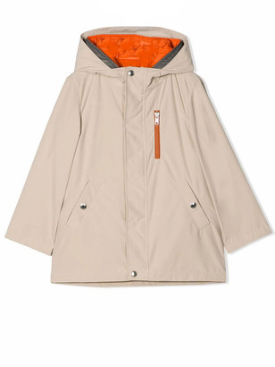 Brunello Cucinelli Soft Beige, Orange And Grey Coat