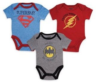 Dc Comics Justice League Baby Boy Bodysuits, 3 Pack Set
