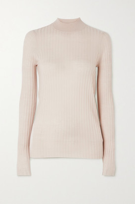 ATM Anthony Thomas Melillo Ribbed Wool Top - Ecru
