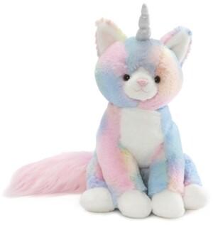 Gund Baby Boys or Girls Rainbow Shimmer Caticorn Plush Toy