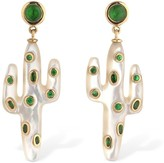 Leon Yvonne Paris 18KT CACTUS EARRINGS