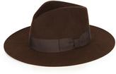 Saint Laurent Fur-felt trilby hat