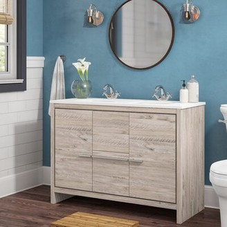 Bosley Mercury Row Modern 47 Double Bathroom Vanity Set Mercury Row