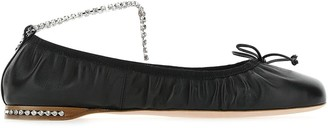 Miu Miu Embellished Ballerina Flat Shoes