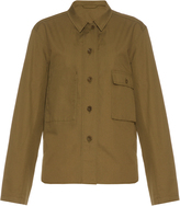 Lemaire Point-collar linen and cotton-blend shirt