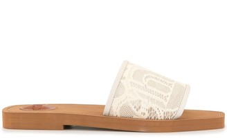 Chloé Woody lace sliders