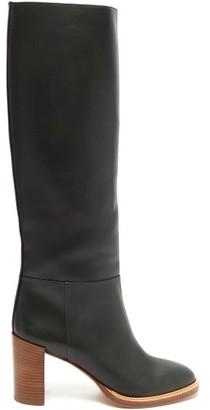 Gabriela Hearst Bocca Knee-high Leather Boots - Womens - Khaki