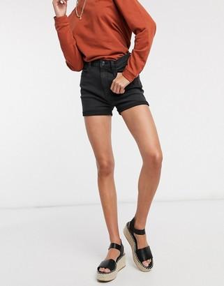 Pimkie turnup shorts in black