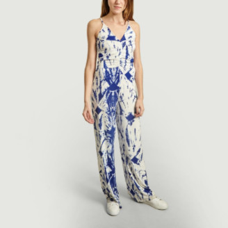 Essentiel Antwerp Blue Tie and Dye Print Vamini Pants Jumpsuit - 0