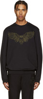 Markus Lupfer Black Embroidered Owl Pullover
