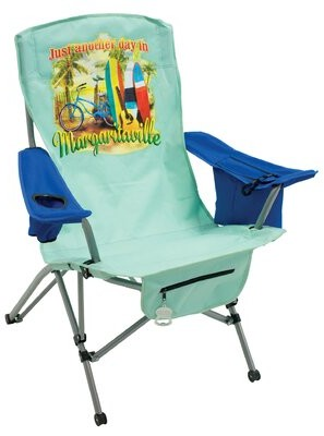 "Margaritaville Just Another Day In Paradise"" Tension Reclining Beach Chair Rio Brands"
