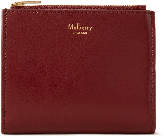 Mulberry Zipped Card Wallet Crimson High Shine Leather