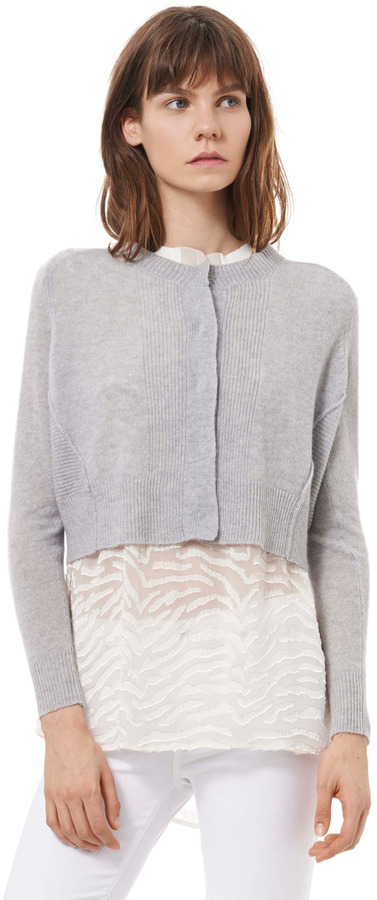 Rebecca Taylor Cropped Cashmere Cardigan