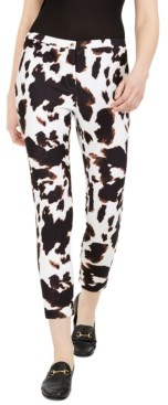 Calvin Klein X-Fit Cow-Print Slim-Ankle Pants