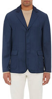 Kiton Men's Athletic-Inspired Three-Button Sportcoat-NAVY, BLUE