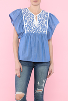 Sugar Lips Blue Loose Top