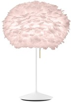 EOS Umage UMAGE - Medium Light Rose Feather With White Stand Table Lamp - Pink/White