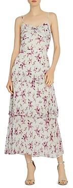 ML Monique Lhuillier Printed Midi Dress
