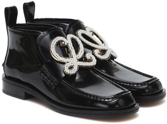 Loewe Embellished leather loafers