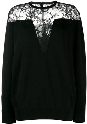 Givenchy Floral Lace Panel Jumper